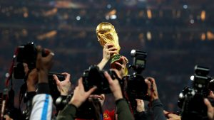 Viewing of the world cup trophy